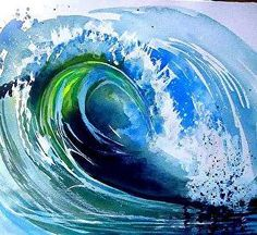 Watercolor Wave by Esther Woods Watercolor ~  x