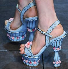 Dolce & Gabbana pastel shoes.... seriously why not. :) These shoes just make me smile. Love their absolute impracticality!