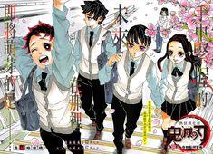 Kimestu No Yaiba/Demon Slayer Chapter 205 Art, Modern Era Gotouge Sensei's Work Me Anime, Anime Demon, Kawaii Anime, Manga Anime, Anime Art, Manga Art, Anime Guys, Demon Slayer, Slayer Anime