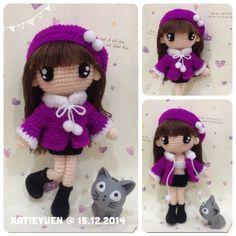 Instagram media katieyuenlj - 苹果的小希, 好喜欢啊~  Her name is Xiao Xi ~  #amigurumidoll #adorable #addicted #amigurumi #craft #crochet #cute #doll #girl #häkeln #haken #hobby #handmade #handcraft #kawaii #yarn #yarndoll #钩针 #钩公仔