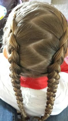 French braid wrapped ponytail thank you becky hui chan babes french braids with a zig zag part thank you jennifer milsaps of girly do ccuart Images