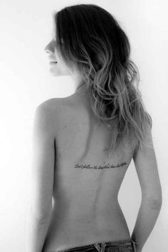 A beautiful back tattoo for a lady
