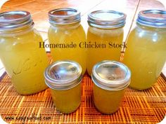 Homemade Chicken Stock www.wholesimplelife.com