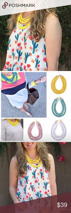 Yellow layered necklace So pretty!!! Jewelry Necklaces