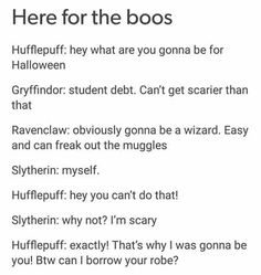 It's funny because I literally just wore my Slytherin robes for Halloween this year...