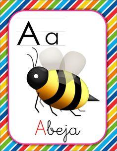 Mas de 100 láminas FLASHCARD tarjetas para trabajar el abecedario con emojis divertidos -Orientacion Andujar