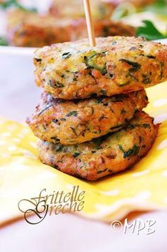 Greek meatballs or zucchini pancakes Greek Recipes, Light Recipes, Italian Recipes, Healthy Meals For Kids, Healthy Recipes, Easy Cooking, Cooking Recipes, Moon Food, Happy Hour Food