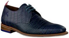 Blauwe Floris van Bommel Geklede schoenen 14285