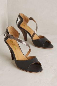 Nina Payne Sosa Heels Black Motif Heels  #anthrofave #anthropologie