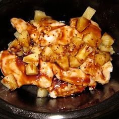 Crockpot Pineapple Chicken...Think I will try this one for dinner tonight!!
