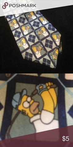 Men's tie Homer Simpson golfing marks & spencer Accessories Ties