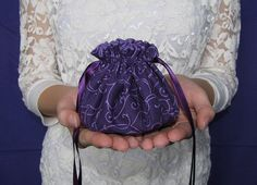 "#Jewelry Pouch.  A beautiful, beautiful pouch.  $8.99 via IslandJewelryBags.etsy.com ""Purple Pop"" Jewelry Pouch"