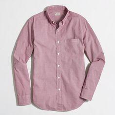 <ul><li>Cotton.</li><li>Regular fit.</li><li>Button-down collar.</li><li>Machine wash.</li><li>Import.</li></ul>