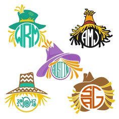 Scarecrow Monogram Cuttable Frame Cut File. Vector, Clipart, Digital Scrapbooking Download, Available in JPEG, PDF, EPS, DXF and SVG. Works with Cricut, Design Space, Cuts A Lot, Make the Cut!, Inkscape, CorelDraw, Adobe Illustrator, Silhouette Cameo, Brother ScanNCut and other software.