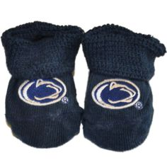 Penn State Nittany Lions Two Feet Ahead Infant Baby Newborn Navy Socks Booties
