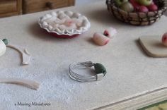 Vintage Style Pastry Blender Green in 1 Inch by aMusingMiniatures, $12.50
