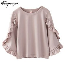 On Sale New Girls Shirt Long Sleeve Ruffes Kdis Girl Autumn Elegant Tee Shirt New Design Fashion Tops Clothes Children Outwear Outfits Mode Abaya, Mode Hijab, Pink Shirts For Girls, Cute Tops For Girls, Bell Sleeve Shirt, Elegant Girl, Girls Blouse, Pulls, Blouse Designs