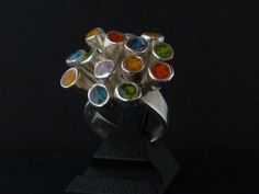 art clay silver with glass fritt and uv resin