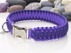 Luxury Two Tone Purple Paracord Dog Collar - Wide - Tap the pin for the most adorable pawtastic fur baby apparel! You'll love the dog clothes and cat clothes! <3
