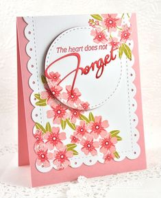 The Heart Does Not Forget Card by Dawn McVey for Papertrey Ink (June 2016)