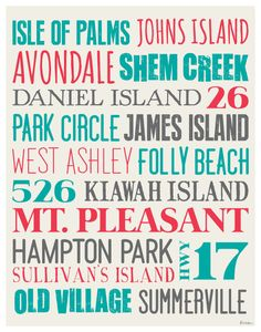 Hey, I found this really awesome Etsy listing at http://www.etsy.com/listing/151346466/charleston-sc-typography-poster-no-2