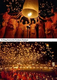 Yi Peng Festival in Northern Thailand
