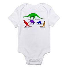 Infant Bodysuit dinosaurs, gift for baby