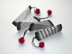 Black white gift box, deco stripes, lace border, set of 4 DIY printable, favor box templates, party fun, packaging, 4 .pdf digital files.  via Etsy.