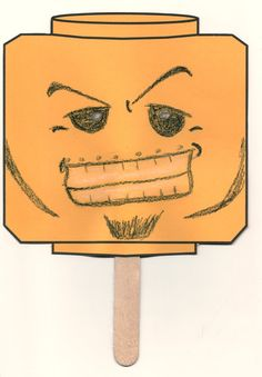 """Here is a fun """"Block Head Craft"""" to do with your children who enjoy playing with Lego. Design your own face."""