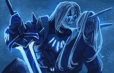 Koltarian Warcraft Art, World Of Warcraft, Death Knight, Night Elf, Wow Art, Cute Gay, Elves, Amazing Art, Creatures
