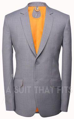 Light Grey Première Two Piece Suit with a paraquette lining.