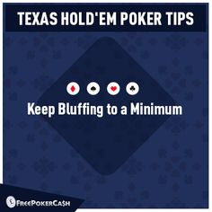 #PokerTips - Bluffing in poker is a major part of the game. But as a beginner you should concentrate on making the best and most appropriate bets with your cards.