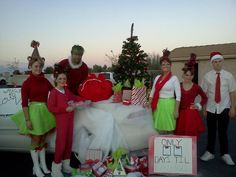 Christmas float trunk or treat treat ideas grinch costumes christmas