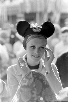 """the60sbazaar: """"Twiggy at Disneyland """""""