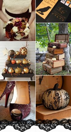 """Trick or Treat"" Halloween Inspired Wedding Ideas and Wedding Invitations -InvitesWeddings.com"
