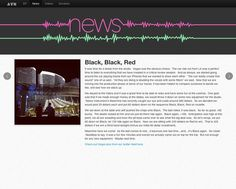 news page, horizontal scrolling takes to other pages, noise wave stretches to infinity in the browser, noise wave is never broken and continuous