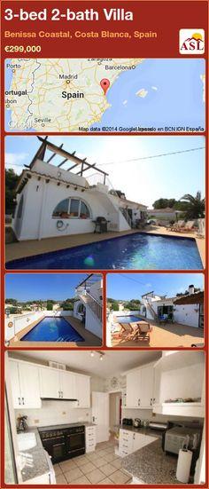 3-bed 2-bath Villa in Benissa Coastal, Costa Blanca, Spain ►€299,000 #PropertyForSaleInSpain