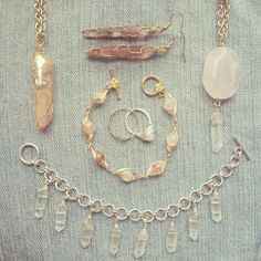 Handmade wire wrapped raw crystal jewellery by Marlee Cheyanne Watts  https://www.etsy.com/ca/shop/MarleeCWatts?ref=si_shop