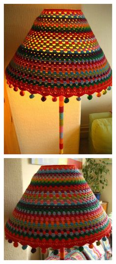 Crochet Lampshade Free Patterns and Ideas- Crochet Lampshade Free Patterns and I. Crochet Lampshade Free Patterns and Ideas- Crochet Lampshade Free Patterns and Ideas Crochet Lamps Crochet Home Decor, Crochet Crafts, Yarn Crafts, Crochet Projects, Free Crochet, Knit Crochet, Diy And Crafts, Funky Lamp Shades, Crochet Furniture