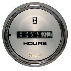 "Faria Kronos 2"" Hourmeter (10,000 Hrs) (12-32 VDC) - https://www.boatpartsforless.com/shop/faria-kronos-2-hourmeter-10000-hrs-12-32-vdc/"