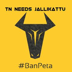 Save Jallikattu. Ban Peta India.