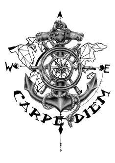 Carpe Navy Tattoos, Forarm Tattoos, Spine Tattoos, Anchor Tattoos, Arrow Tattoos, Body Art Tattoos, Sleeve Tattoos, Cool Tattoos, Small Tattoos