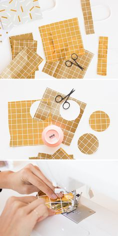 A Unique Gift Wrap Idea for the Holidays: DIY Paper Present Pouches Turn old gift bags into upcycled paper print pouches for the holidays and beyond. This unique gift wrapping idea is sup Creative Gift Wrapping, Gift Wrapping Paper, Wrapping Ideas, Paper Gifts, Diy Paper, Unique Gifts, Best Gifts, Diy Gifts, Diy Christmas Decorations Easy