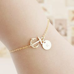 Personalized anchor bracelets - Earrings Nation