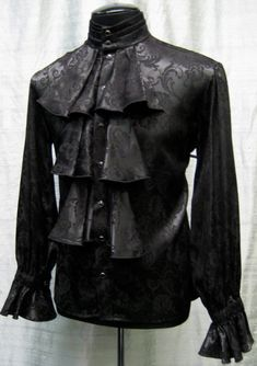 LOUIS XIV SHIRT - BLACK BROCADE