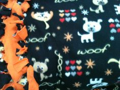 Dog Print Fleece Blanket by TwoHeartsbyAmanda on Etsy, $25.00