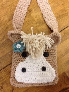 Horse Purse, Girls Purse, Taupe Purse/Bag on Etsy, $18.00