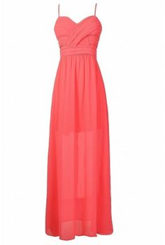 Hot Pink Chiffon Prom Dress, Hot Pink Maxi Dress, Hot Pink Juniors Maxi Dress