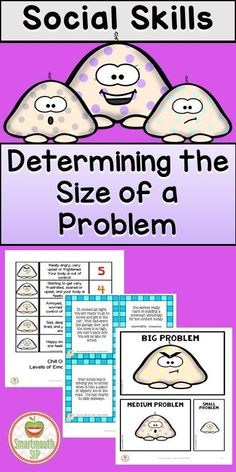 Snow Problem is a winter themed product to work on identifying the size of a problem, the size of a reaction and more! Social Skills Lessons, Social Skills Activities, Teaching Social Skills, Social Emotional Learning, Coping Skills, Therapy Activities, Life Skills, Articulation Activities, Group Activities