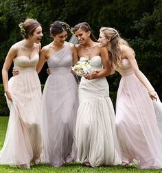 Bridal party color scheme